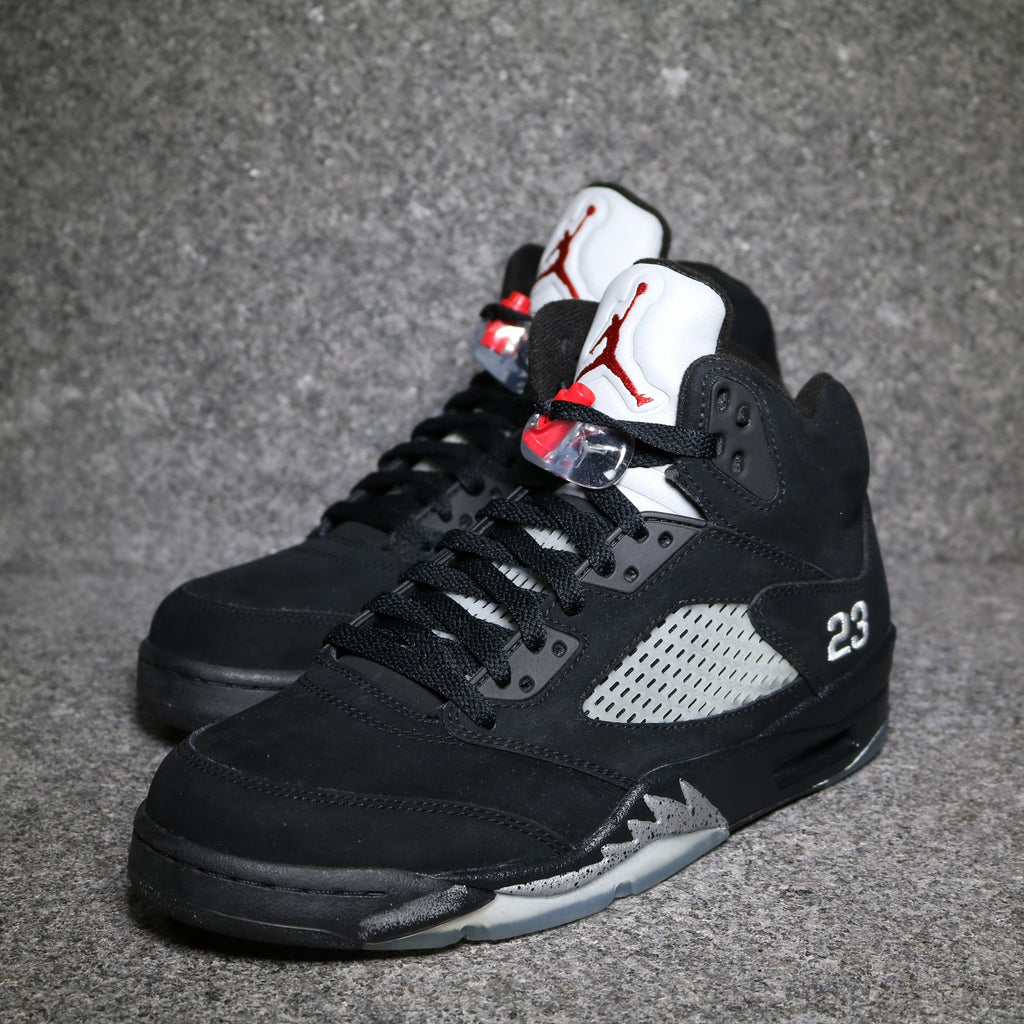 Off Centre View of the Air Jordan 5 Retro Black Metallic from 2011 at Solemate Sneakers Sydney