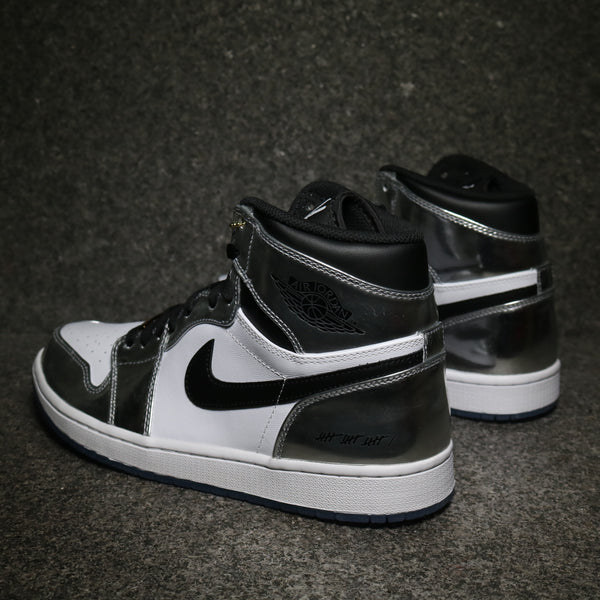 Air Jordan 1 Retro Hi Think 16 Chrome Black White