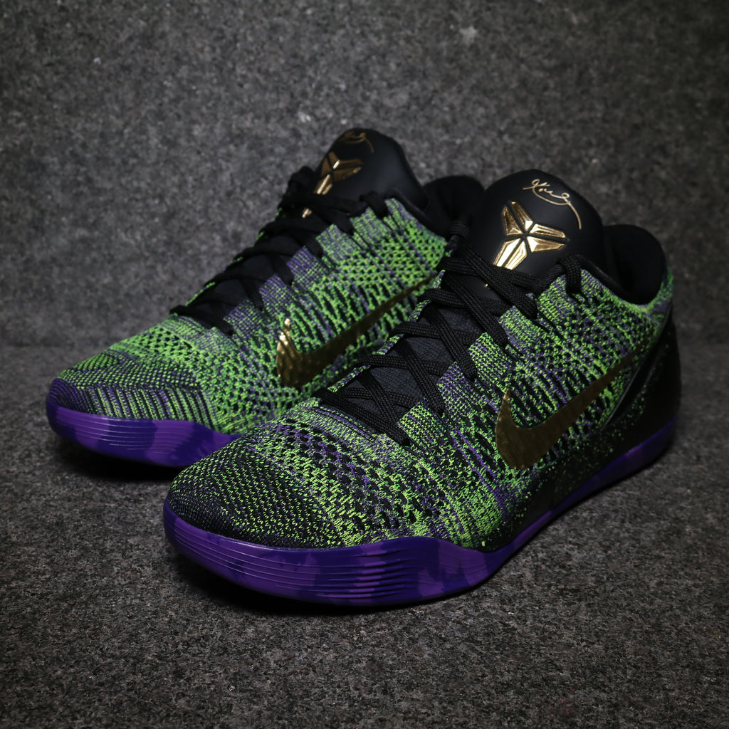 e264be57e230 Nike ID Kobe 9 Elite Low  Mamba Moment  Black Multi Color – Sole Mate  Sneaker Boutique