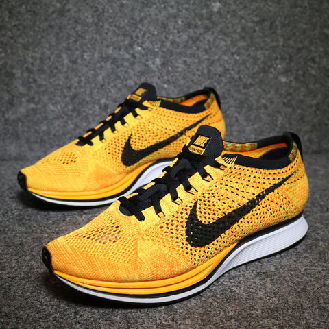 Flyknit Racer 'Cheetos' Orange Black Laser Volt