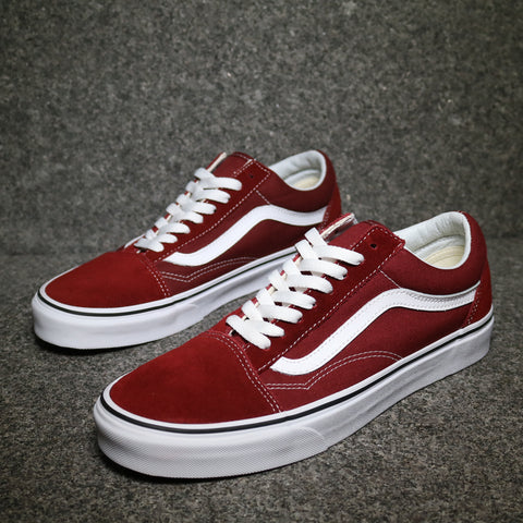 Old Skool Madder Brown True White