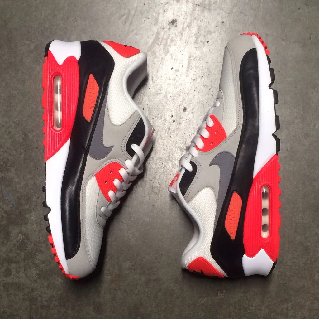 "Air Max 90 OG ""Infrared"" White Cool Grey Natural Grey Black"