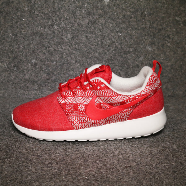 Side view of the Women's Roshe Winter University Red White at Solemate Sneakers Sydney