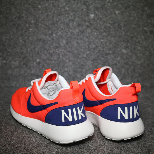 Rear view of the Women's Roshe One Retro Crimson Navy White at Solemate Sneakers Sydney