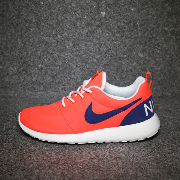 Side view of the Women's Roshe One Retro Crimson Navy White at Solemate Sneakers Sydney