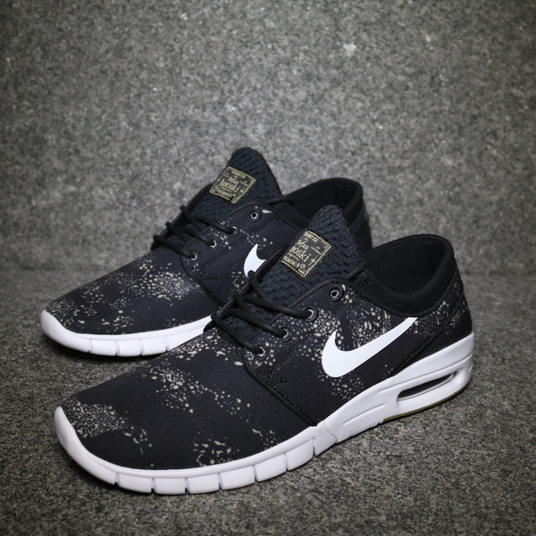 Stefan Janoski Max Premium Black White Netural Grey Olive Gum Light Brown