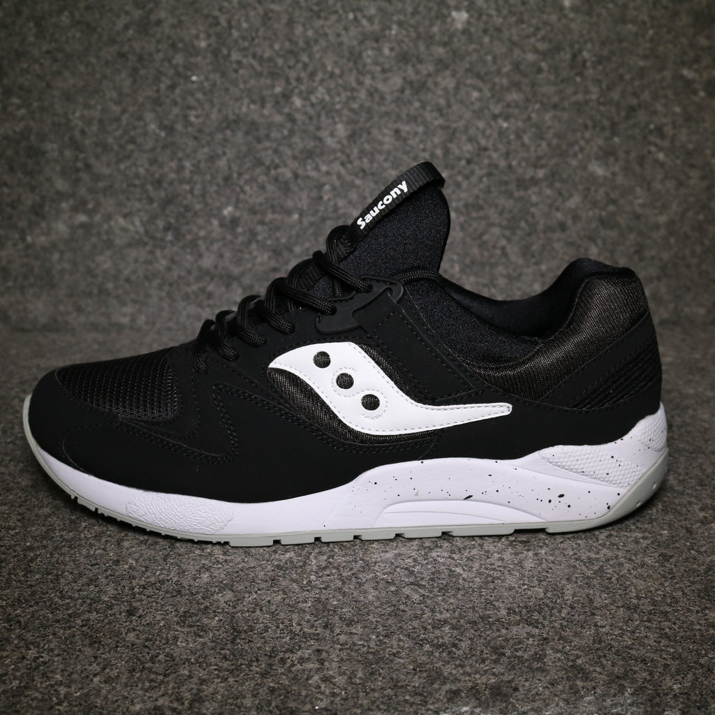 saucony grid 9000 black and white