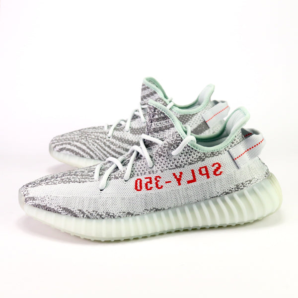 100% authentic 72056 f1335 Yeezy Boost 350 V2 'Blue Tint' Blue Tint Grey Three High Risk Red