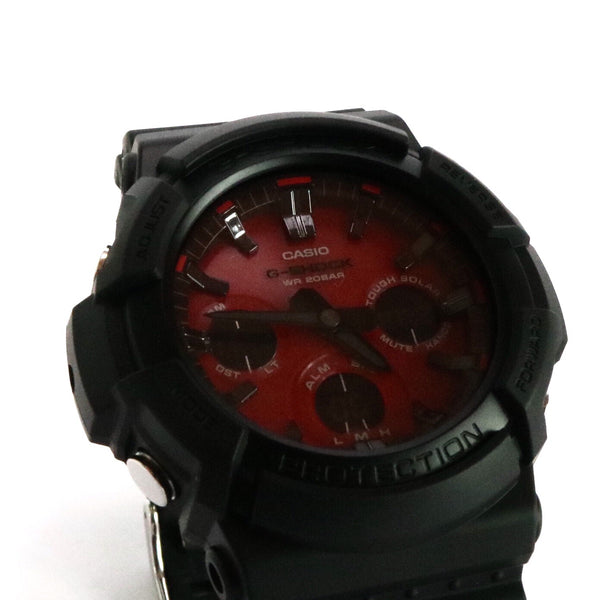 G-Shock GAS100AR1A Digital Analog Black Metallic Red