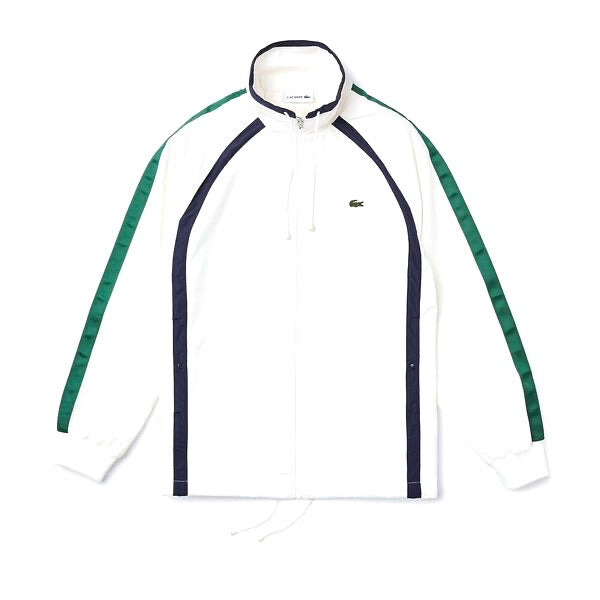 Lacoste Zippered Heritage Jacket White Navy Green