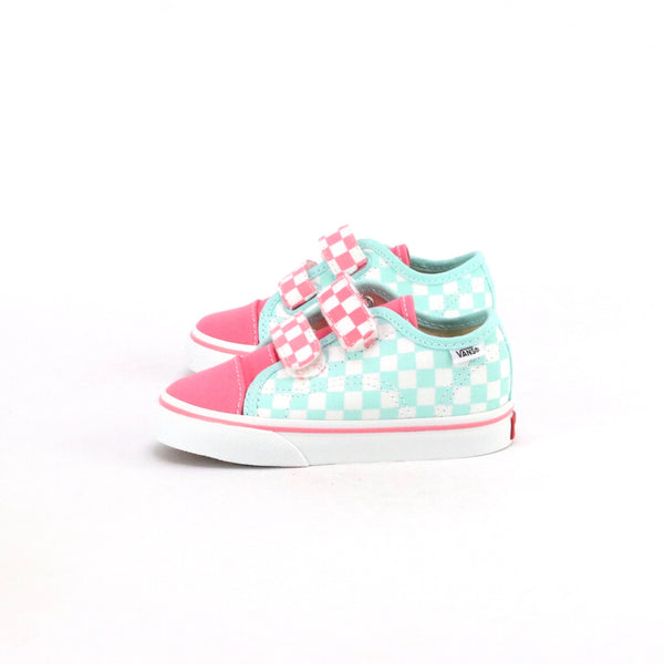 Toddler Style 23 V Checkerboard Blue Tint Pink