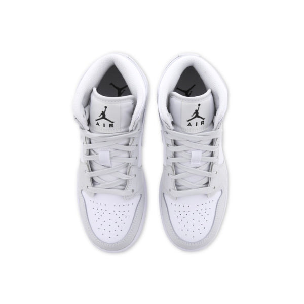 Air Jordan 1 Mid GS White Dust Grey Camo