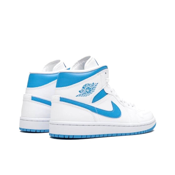 Women's Air Jordan 1 Mid UNC White Carolina Blue