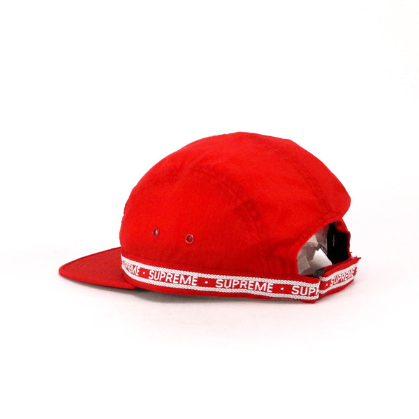 Supreme FW18 Tonal Tape Camp Cap Red White