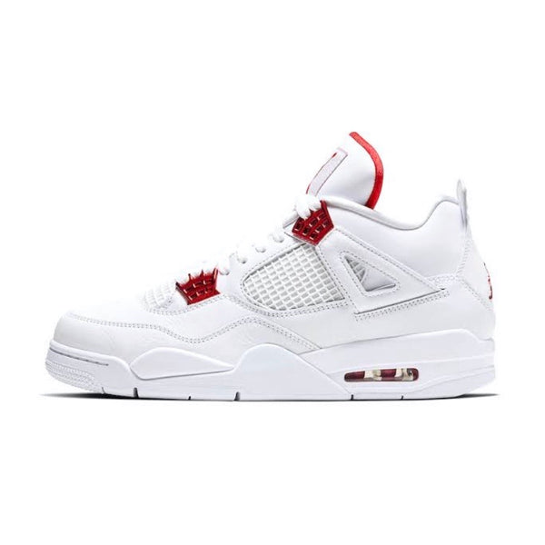 Air Jordan 4 Retro White Metallic Red