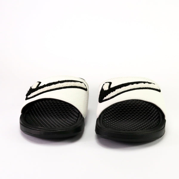 Nike Benassi Just Do It Chenille Black White
