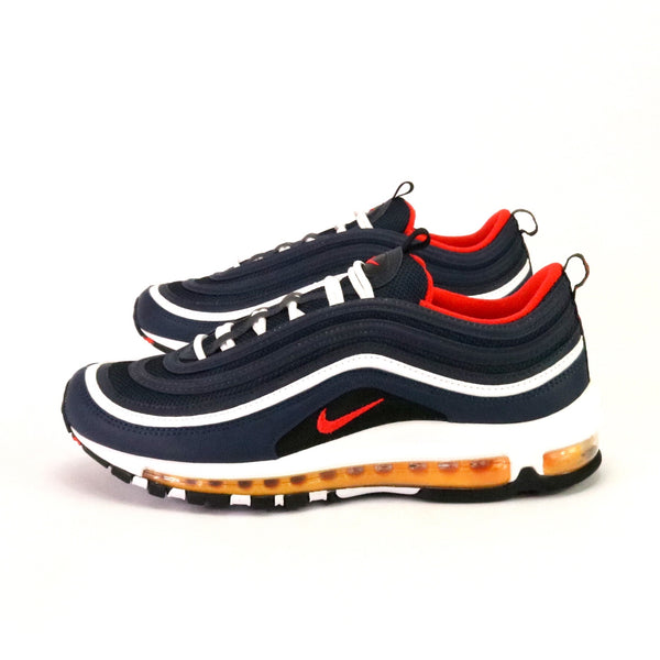 Air Max 97 Midnight Navy Habanero Red White