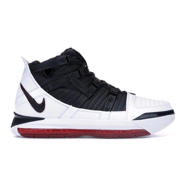 LeBron 3 Home (2019) WHITE/BLACK-VARISTY CRIMSON