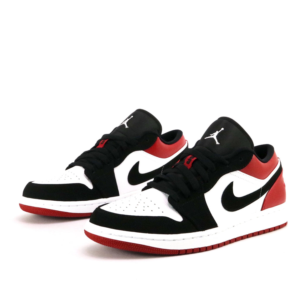 new styles 83303 11248 Air Jordan 1 Low Black Toe White Black Gym Red – Sole Mate Sneaker Boutique