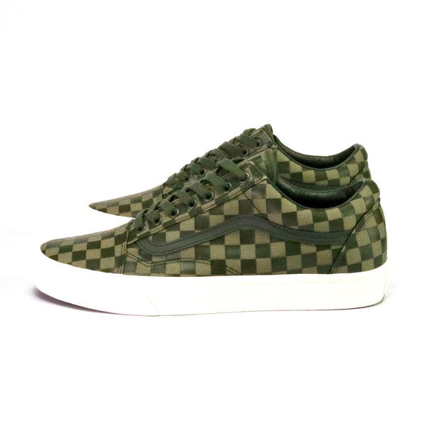 Old Skool High Density Checkerboard Olive White