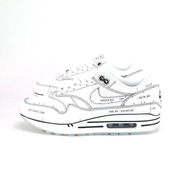 Air Max 1 Tinker Schematic Sketch To Shelf White Black