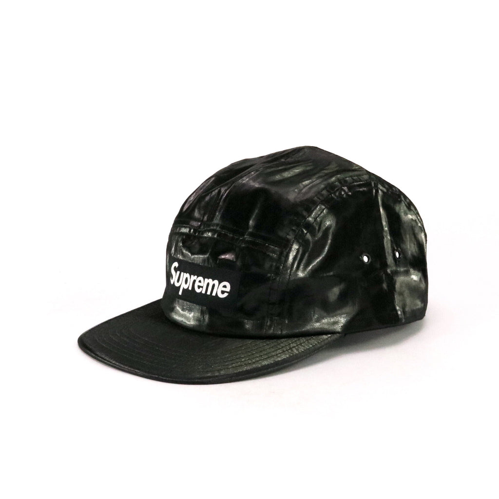 Supreme 5 Panel Coated Linen Black