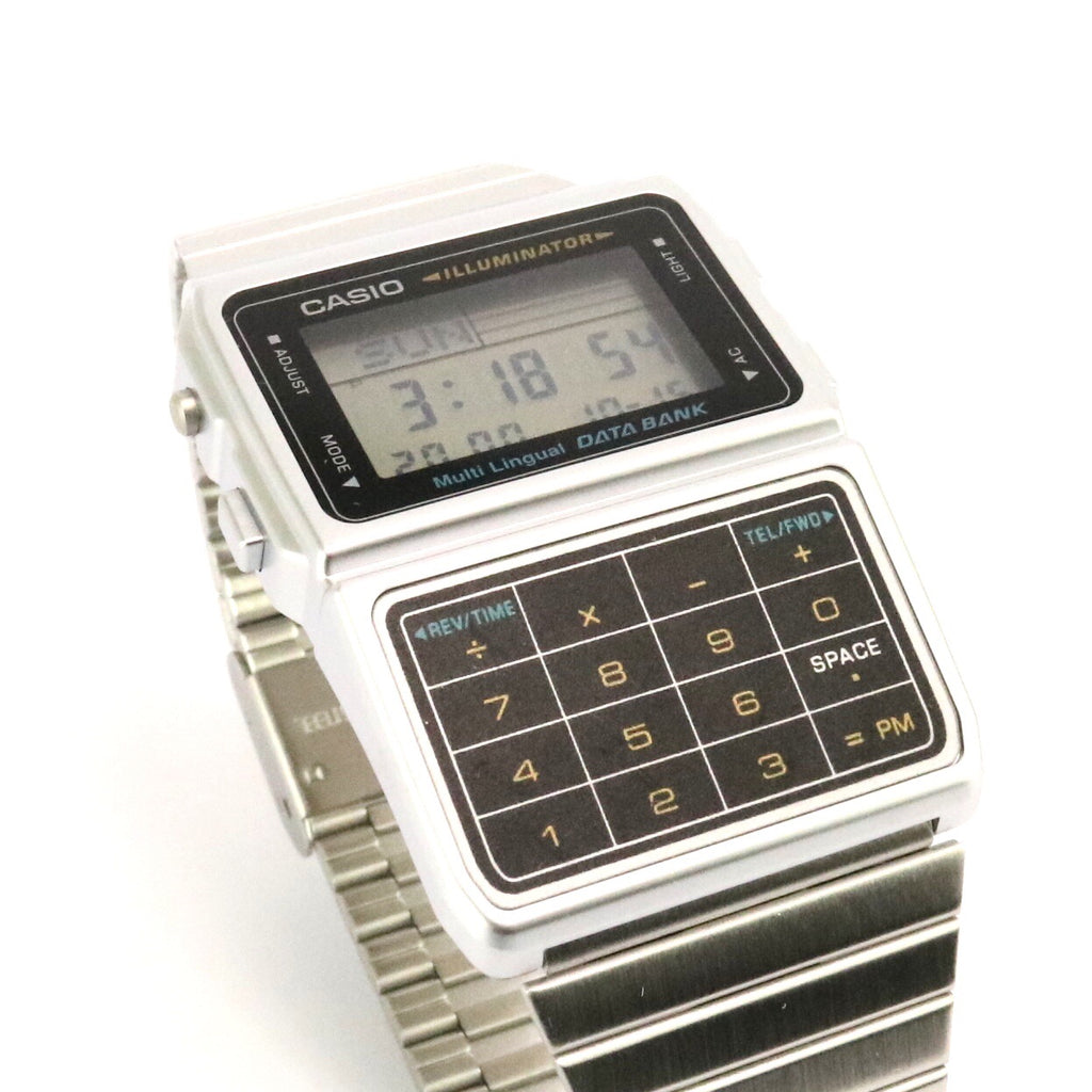 Casio Silver Black Vintage Calculator