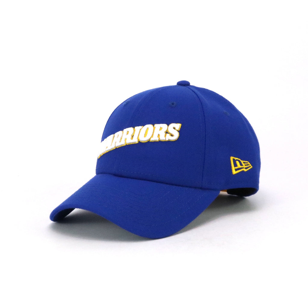 New Era 940 Golden State Warriors Script Royal Blue Yellow White