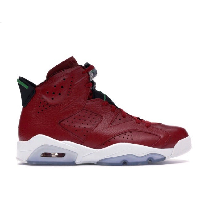 Air Jordan 6 Retro History of Jordan Varsity Red Classic Green Black