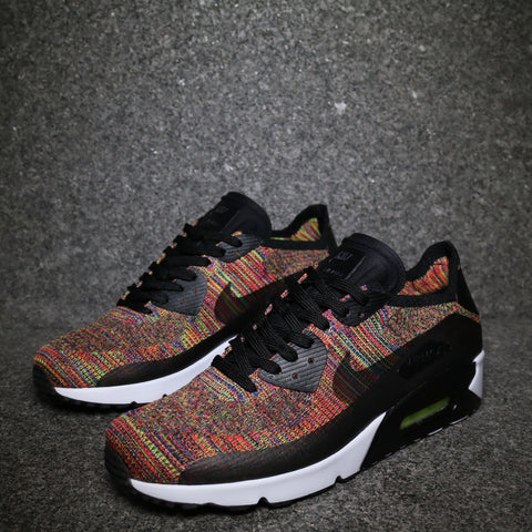 "Air Max 90 Ultra 2.0 Flyknit ""Multi"" Black Orange Blue"