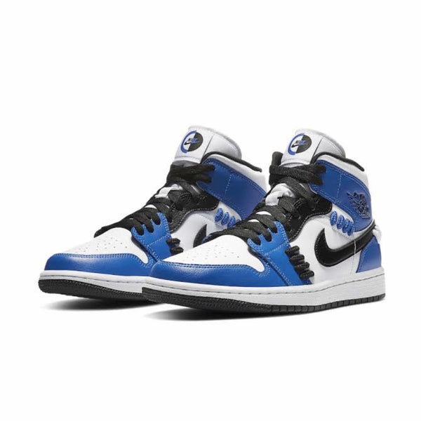 Women's Air Jordan 1 Mid SE Sister Hood Game Royal Black White