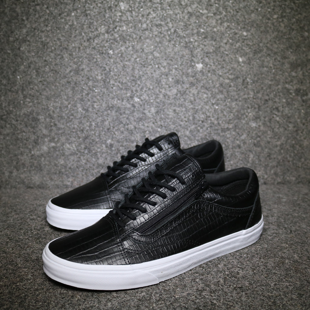 583b281e6ad Old Skool Zip Croc Print Black White – Sole Mate Sneaker Boutique