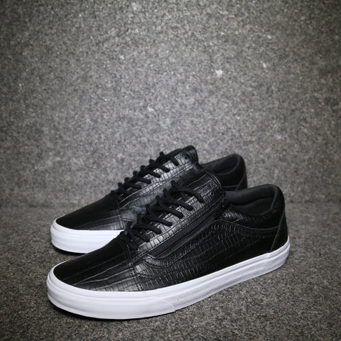 Old Skool Zip Croc Print Black White