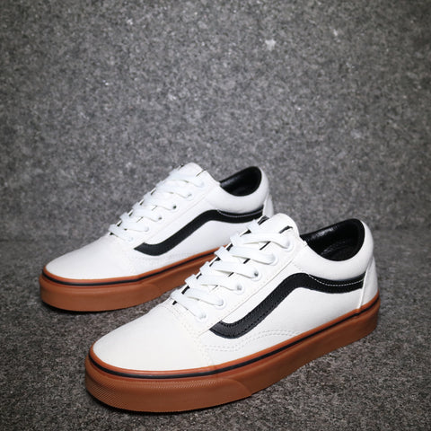 Old Skool Gum Blanc Black