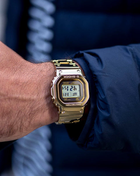 G-Shock 5600 Liquid Metal Limited Edition Gold Black Screen
