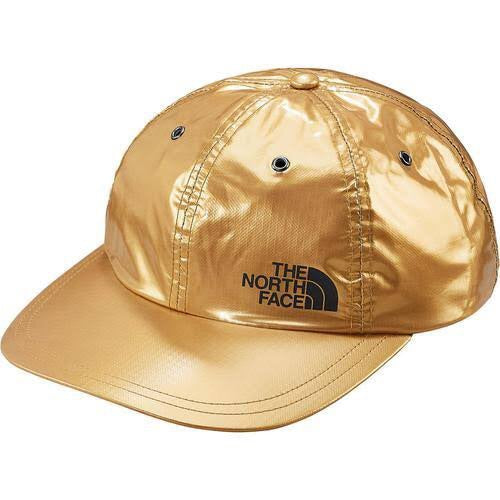 Supreme x The North Face 6 Panel Cap Metallic Gold Black SS18