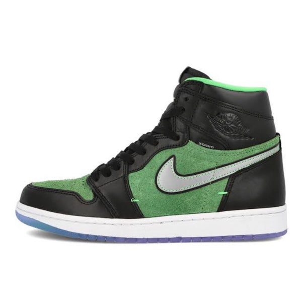 Air Jordan 1 Hi Zoom Air Rage Green Black Black Tomatillo