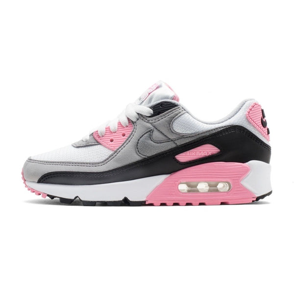 Women's Air Max 90 White Particle Rose Grey Rose Black