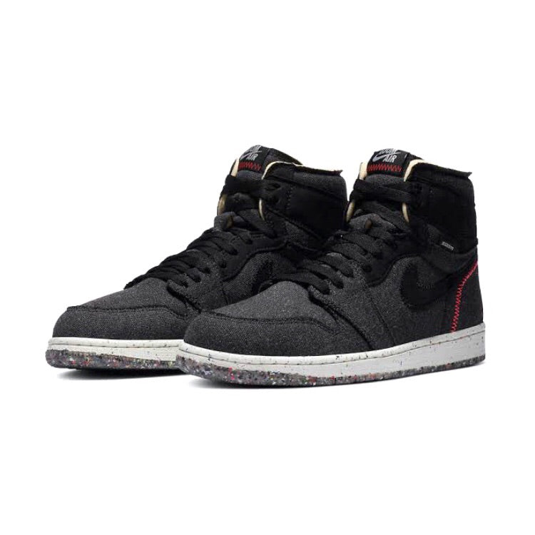 Air Jordan 1 Retro High Zoom Crater Black Wolf Grey Flash Crimson