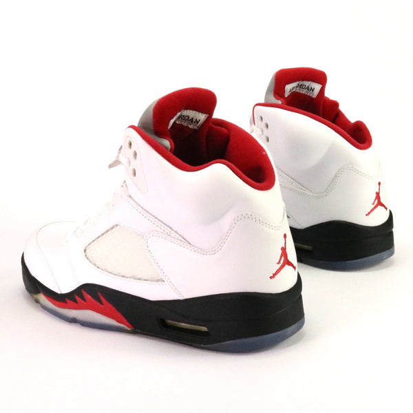 Air Jordan 5 Retro Fire Red  2013 White Fire Red Black