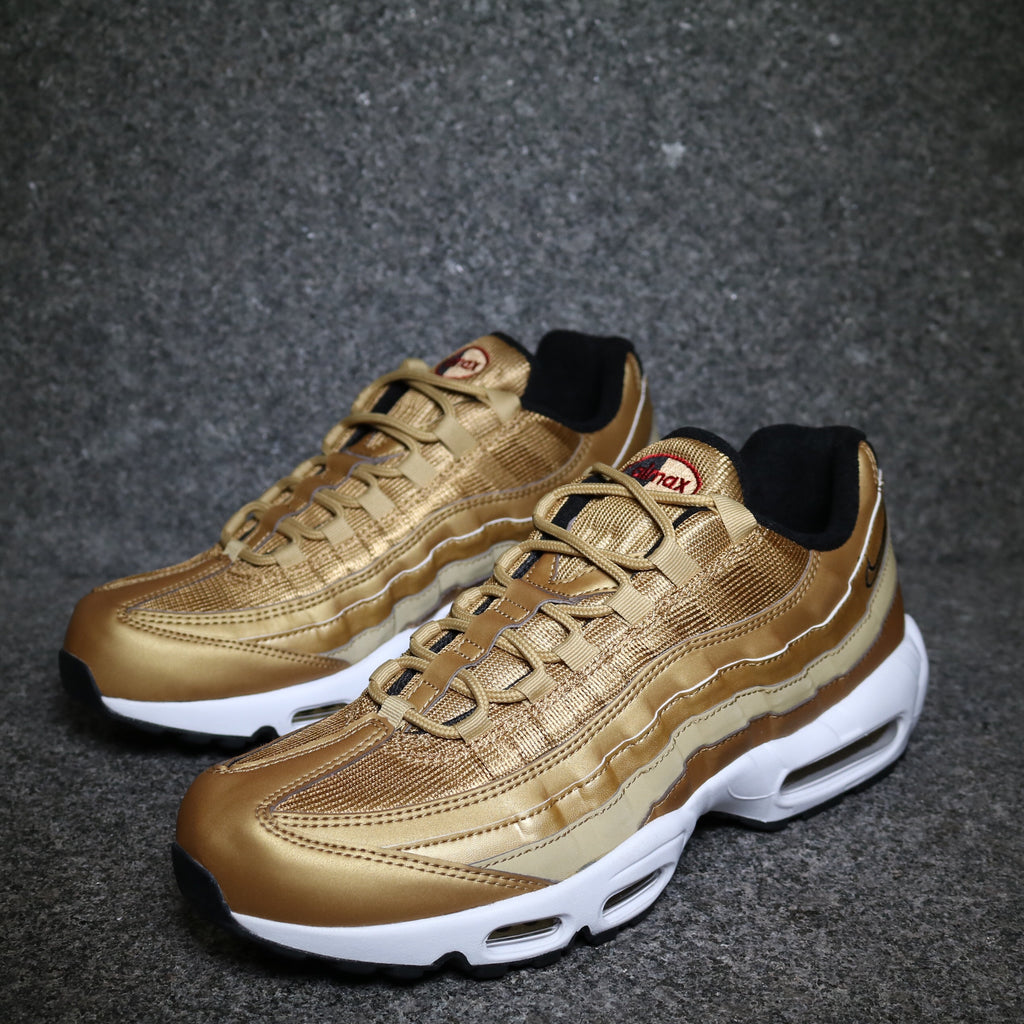 Nike Air Max 95 Premium QS (Metallic GoldBlackWhiteVarsity Red)