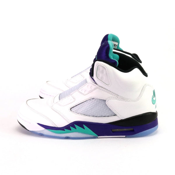 Air Jordan 5 Retro NRG Fresh Prince White New Emerald Grape Ice
