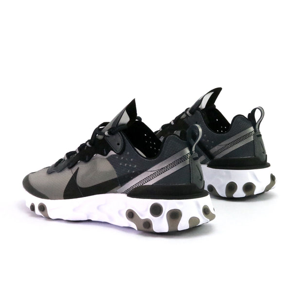 Nike React Element 87 Anthricite Black White