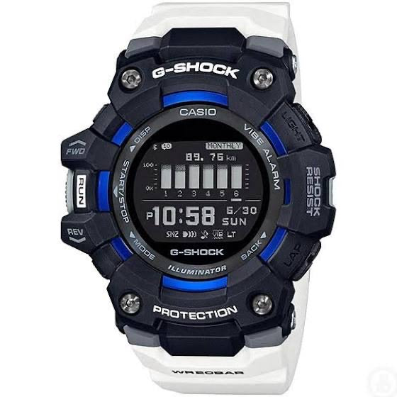 G-Squad GBD1001A7 Black Blue White Digital Watch by Casio G-Shock