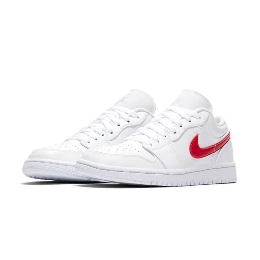 Women's Air Jordan 1 Low White University Red White