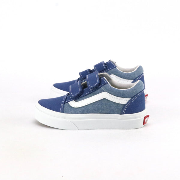 Toddler Old Skool V Canvas Chambray True Navy True White