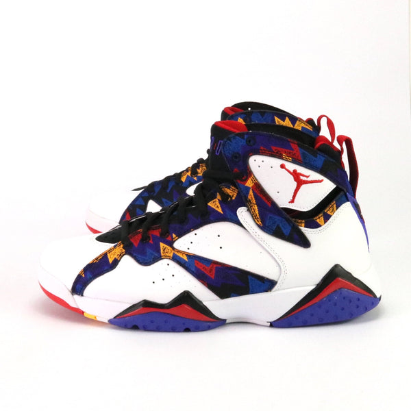 "Air Jordan 7 Retro ""Ugly Sweater"" White University Red Black Citrus Crimson"