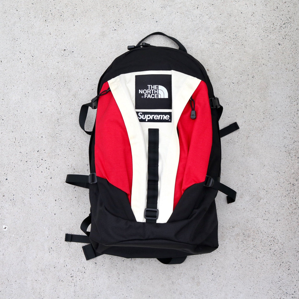 Supreme x The North Face Expedition Backpack Red Black White