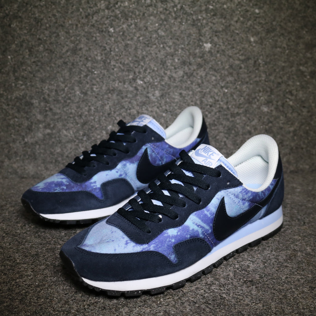 Off Centre View of the Air Pegasus 83 SD Persian Violet Navy at Solemate Sneakers Sydney