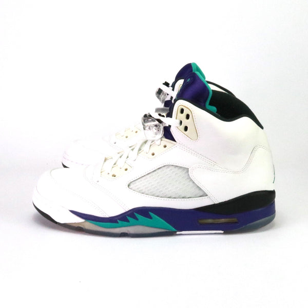 Air Jordan 5 Retro 'White Grape' Emerald Grape Ice Black